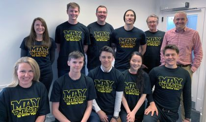 The Madison team celebrating Star Wars day