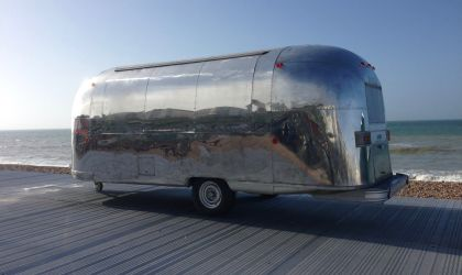 Our beautiful vintage Air Stream from the 1960s