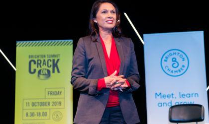 Campaigner Gina Miller at Brighton Summit