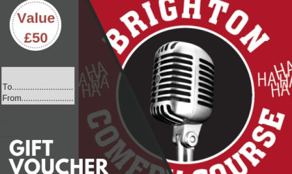 Brighton Comedy Course Gift Vouchers- Cards available