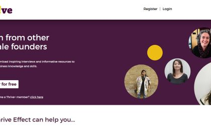 Screenshot of The Thrive Effect's Digital Platform (Home Page)