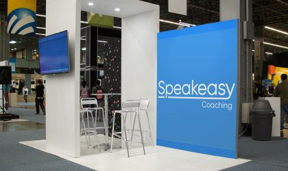Speakeasy's stand at the Let's Do Business Event