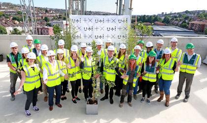 Preston Barracks innovation hub 'topped out'