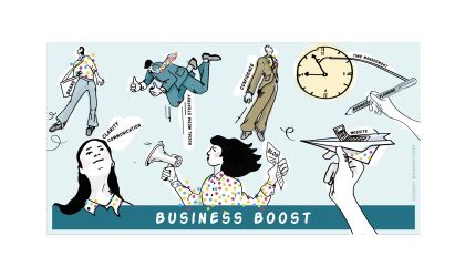 'Business Boost' Illustration for 'Heads-up Coaching'