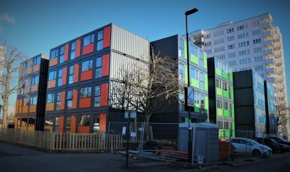 Shipping Container Housing for Ealing Council