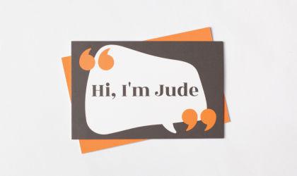 Business card design for Speaking Works
