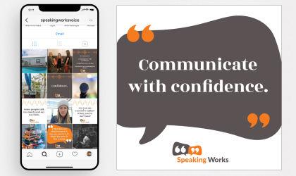 Social Media template design for Speaking Works