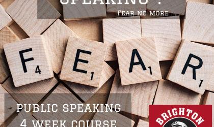 Public Speaking 4 week Course starts 3rd October