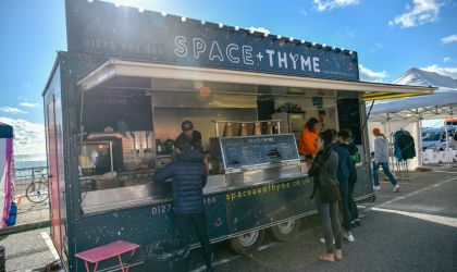 Street food catering at large outdoor events